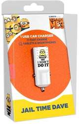 Tribe Tribe Caricabatterie da Auto USB Fast Charge 2.4A Minions J.T. Dave